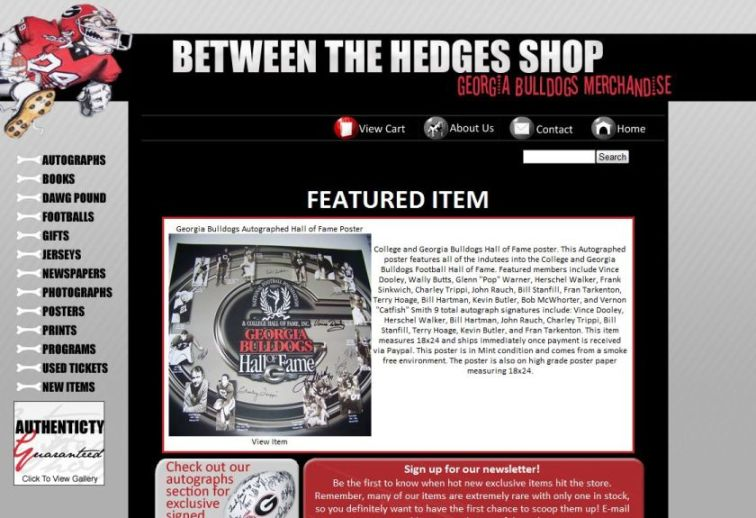 Between The Hedges Shop